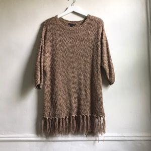Signature Studio Sweater with fringe S/M